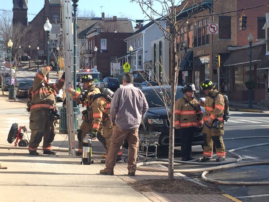 Firefighters responded to a dryer fire at a Wallingford laundromat on Wednesday, Feb. 14, 2018. | Bailey Wright, Record-Journal