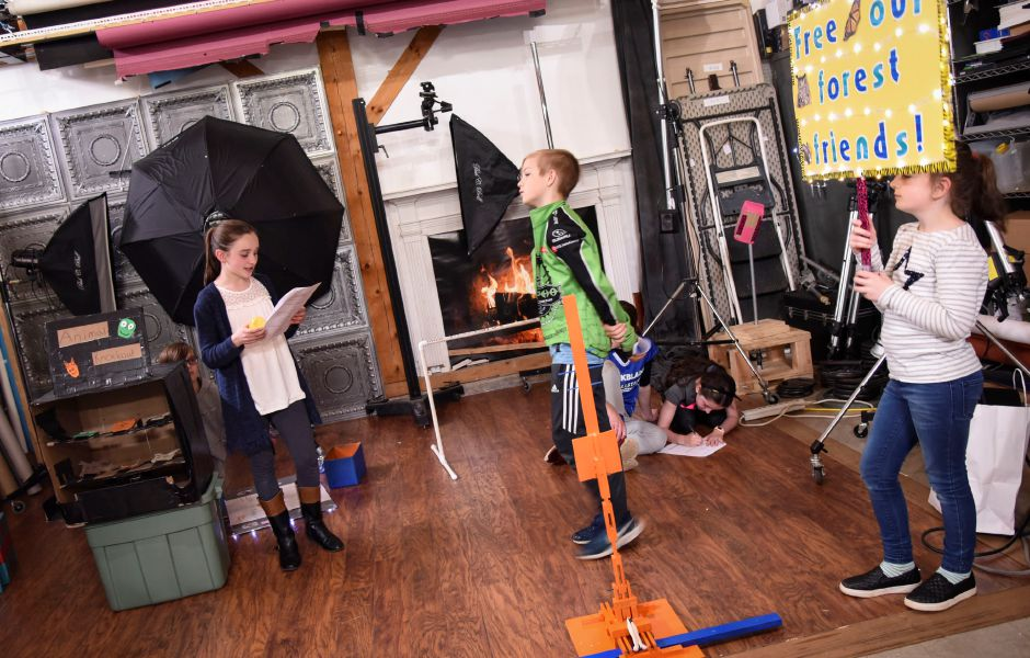 The Coginchaug Valley Educaiton Foundation Odyssey of the Mind team practices their solution skit on April 30, 2019 in Middlefield. The team will compete in the Odyssey of the Mind world competition in Michigan later this month. | Bailey Wright, Record-Journal