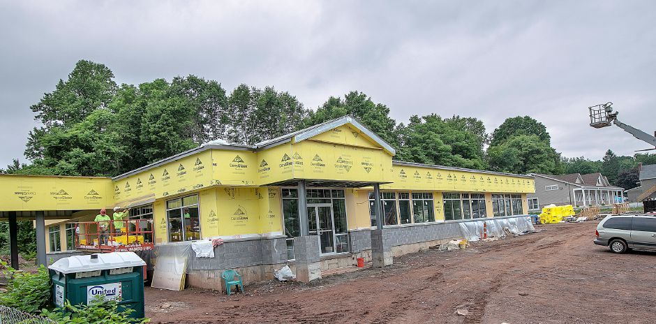 Construction continues on an office building and Ion Bank on East Main Street in Meriden, Wed., June 19, 2019. Dave Zajac, Record-Journal