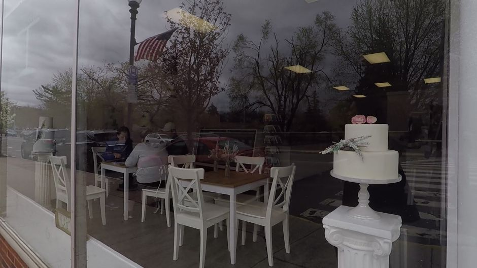 The window of Alyssa's Cakery on Center Street, a participant in the 7th annual Downtown Wallingford Restaurant Hop, Wed. May 8, 2019. 4 p.m. to 8 p.m. |Ashley Kus, Record-Journal
