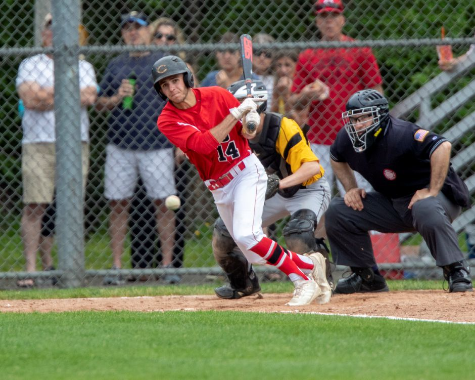 Ryan Cyr's lead-off single got Cheshire's seventh-inning rally into immediate gear Wednesday at Burt Leventhal Field.