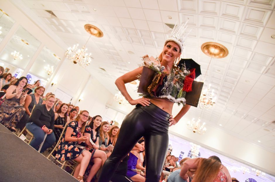 About 600 people gathered at the Aqua Turf Thursday night, August 8, for the 11th annual Art Bra event to raise funds for women with cancer. Dozens of decorated bras were modeled and auctioned off during the night