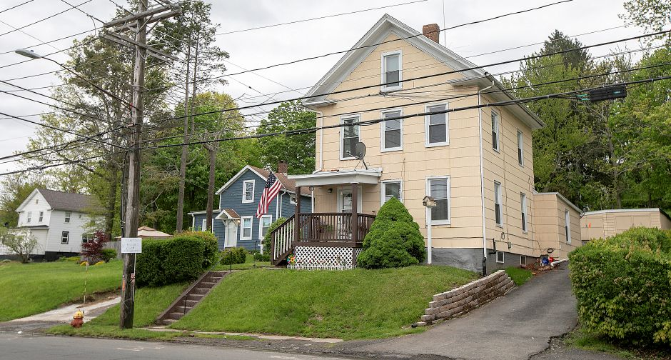 A residence at 176 Broad St., Meriden, Mon., May 13, 2019. Meriden police are investigating after shots were fired at the home on Friday. | Dave Zajac, Record-Journal