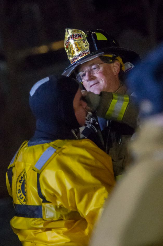 Kensington FD Captain Robert Brown makes some last minute adjustments during cold water rescue training Feb. 4, 2019. | Ron Paris, Special to the Record-Journal