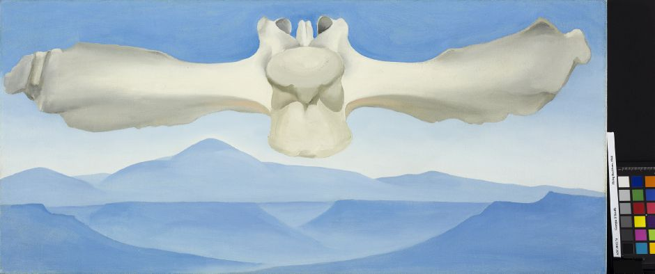 """Flying Backbone"" Georgia O' Keeffe painting as part of the new Georgia O' Keeffe exhibition at New Britain Museum of American Art, 56 Lexington St., New Britain. 