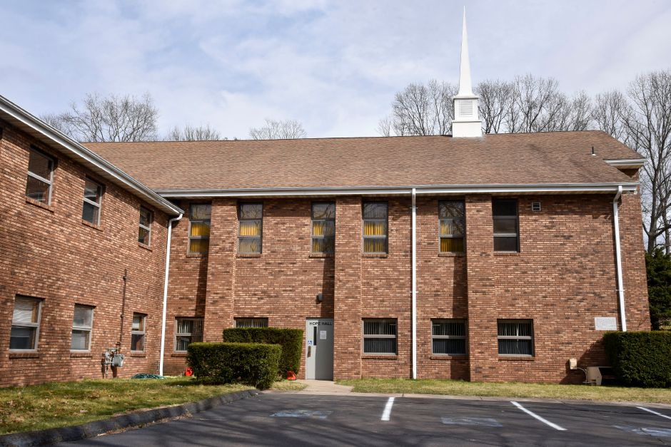 Hope Christian Church, at 122 Montowese Ave. in North Haven, pictured on March 25, is a proposed location for the Ulbrich Boys and Girls Club of North Haven, which would be the Wallingford club's first expansion.  Bailey Wright, The Citizen