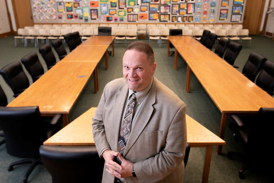 Rob Kosienski, seen last month, has been named the new Board of Education president.File photo, Record-Journal