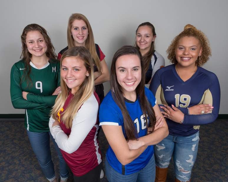 Introducing the 2016 All-Record-Journal volleyball team. The three girls in front are, from left, Sheehan