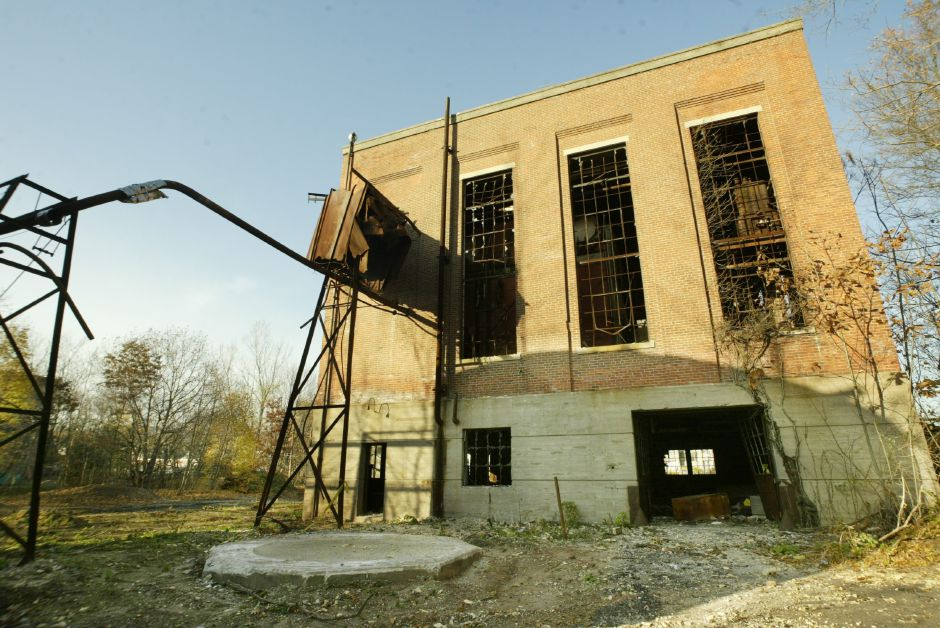 Exterior of the former International Silver Co. Factory H power plant off Cherry St. in Meriden Thurs., Nov. 11. The site is open to anyone with no signs in evidence and no locked gates.