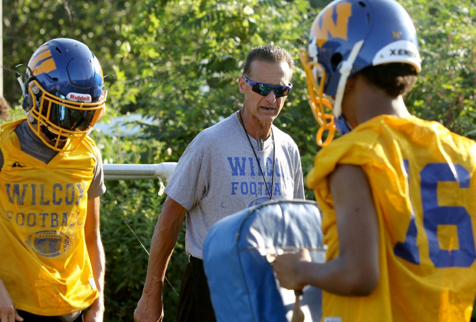 After Friday's 44-0 loss to Cheney Tech in Manchester, Wilcox Tech football coach Trevor Jones expects better effort and execution out of his Indians when they return to Meriden to host MCW United next Saturday night at Falcon Field. | Aaron Flaum, Record-Journal Staff