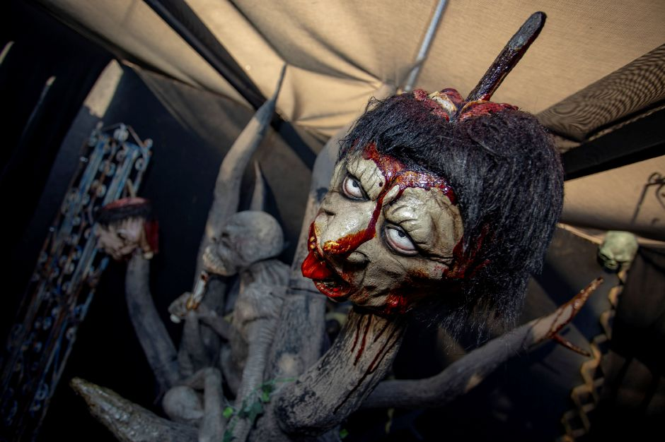 Scenes from inside the Evidence of Evil haunted attraction behind Crystal Bees in Southington Sept. 20, 2018. Evidence of Evil opens Sept. 28. | Richie Rathsack, Record-Journal