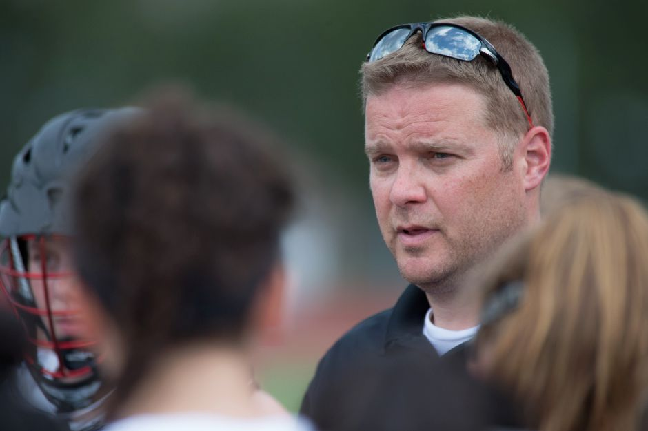 Coach Dan Warburton's Cheshire girls lacrosse team earned the No. 1 seed in the CIAC Class L Tournament after a 15-1 regular season. Yet the Rams may face the one team that beat them – Greeenwich – in the first round. | Justin Weekes / Special to the Record-Journal
