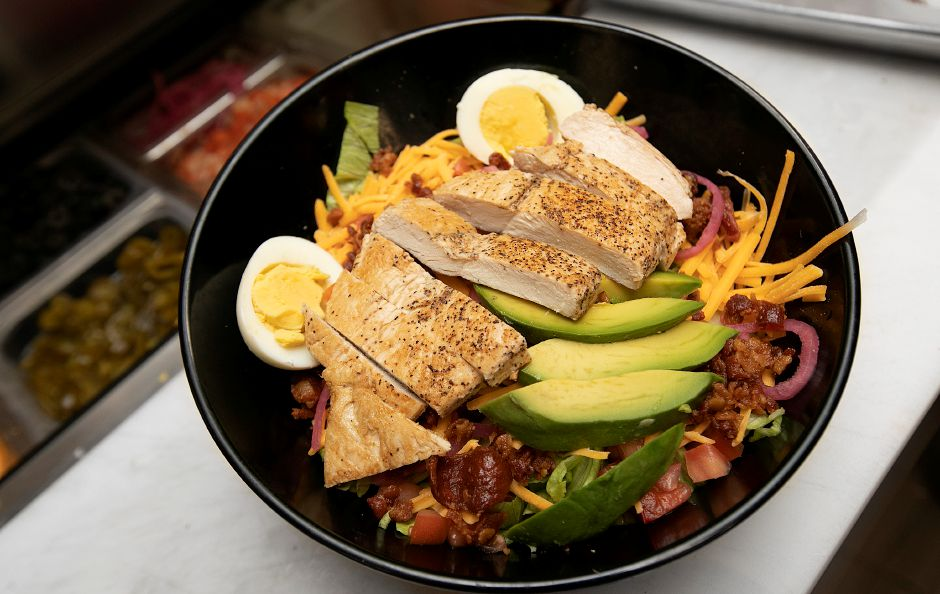Chicken Cobb salad available at Knuckleheads, 80 Center St., Wallingford, Wednesday, Dec. 12, 2018. Dave Zajac, Record-Journal
