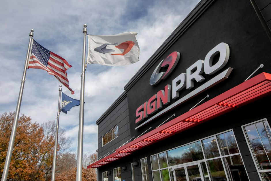 Sign Pro in Southington, Wed., Nov. 14, 2018. The business is now completely powered by solar energy. Dave Zajac, Record-Journal