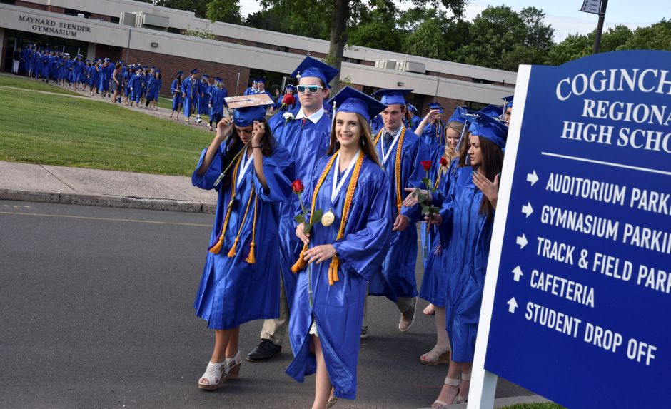Coginchaug Regional High School celebrates its seniors during 2019 graduation ceremonies on Friday, June 14, 2019. | Bailey Wright, Record-Journal