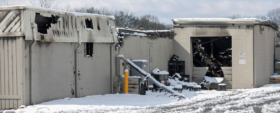 The rear of Tops Marketplace, 887 Meriden-Waterbury Turnpike in Southington, Mon., Mar. 4, 2019. The business was destroyed by fire Sunday night. Dave Zajac, Record-Journal