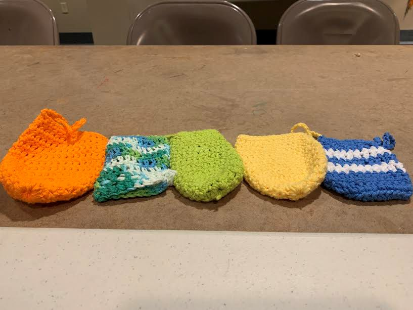 Some of the soap sacks made by Middlefield