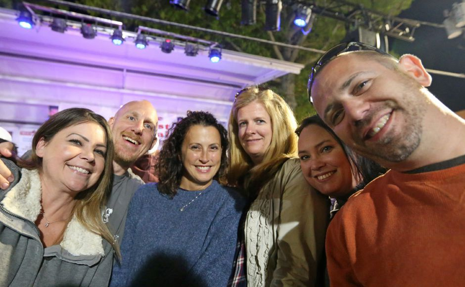 A group of friends stake out a spot right in front of the main stage for the Spin Doctors concert at the annual Apple Harvest Festival in Southington on Saturday, Oct. 12, 2019. Emily J. Tilley, special to the Record-Journal.