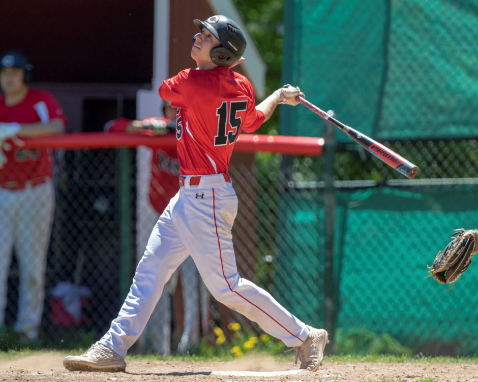 Ryan Strollo and the Cheshire Rams used a pair of six-run innings to storm past North Haven 13-4 on Wednesday night in the SCC Tournament semifinals in West Haven. Cheshire will tangle with rival Amity in Thursday's final back in West Haven at 6 p.m.