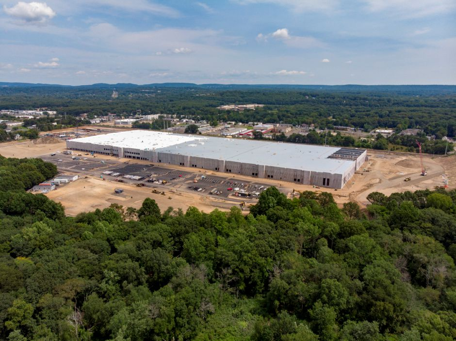 The Amazon facility in North Haven also calls for extending Valley Service Road, which is just out of sight at the bottom of the photo, to the facility, Aug. 25, 2018. | Richie Rathsack, Record-Journal