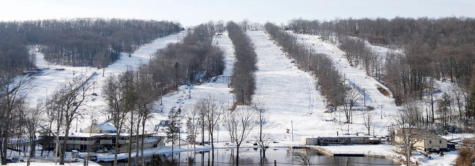 Powder Ridge Mountain Park and Resort in Middlefield, Monday, Dec. 11, 2017. Powder Ridge plans to open Friday at 3pm. Dave Zajac, Record-Journal