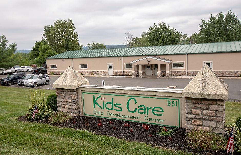 Kids Care Child Development Center, 951 N. Main St. Ext. in Wallingford, Wed., Aug. 14, 2019. Police are investigating after catalytic converters were cut from underneath two of the center