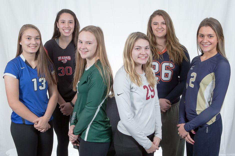 Introducing the 2017 All-Record-Journal Volleyball Team. From left to right, Southington
