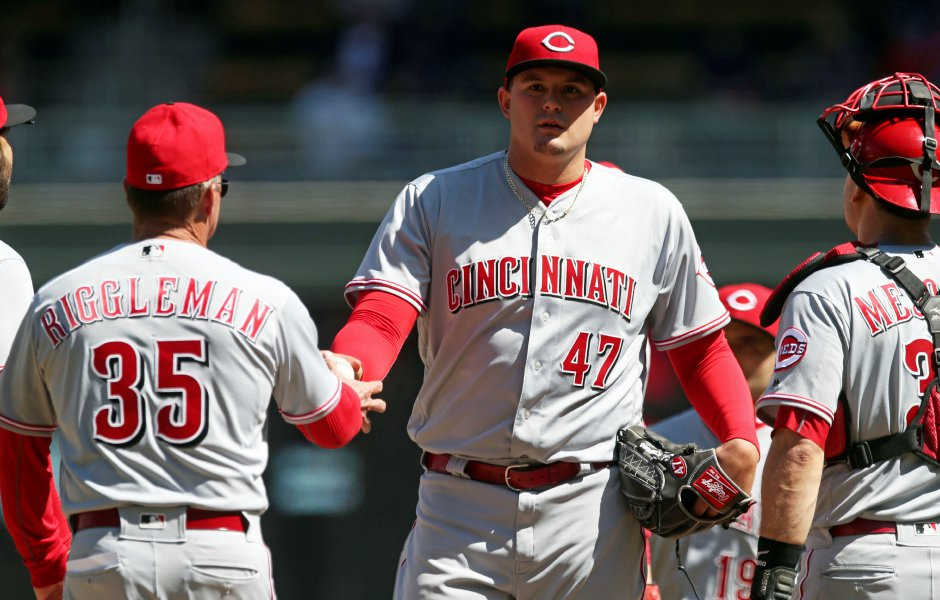 Southington native Sal Romano returned to Triple-A Louisville on Thursday after spending a week in the Reds' big-league bullpen in Cincinnait. (AP Photo/Jim Mone)