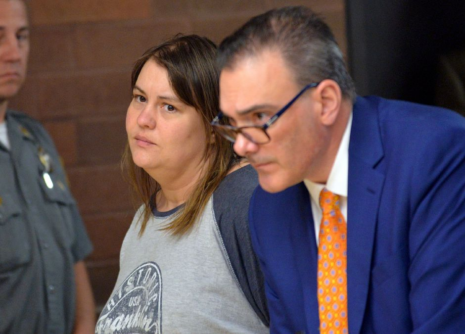 Meriden--Karin Zoilkowski is arraigned in Meriden Superior Court on murder charges for the death of her 8-year-old son, Elijah. She is shown with her attorney, John DelBarba, right, in Nov. 2017 Peter Casolino/ Special to the Courant