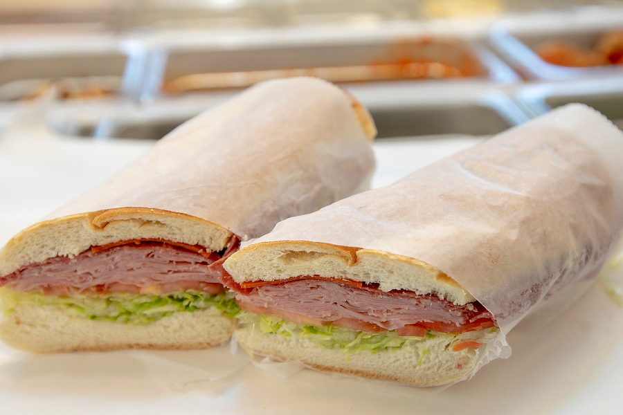 An Italian combo sub at the new N.Y. Deli in the Meriden Commons in downtown Meriden, Mon., Sept. 30, 2019. Dave Zajac, Record-Journal