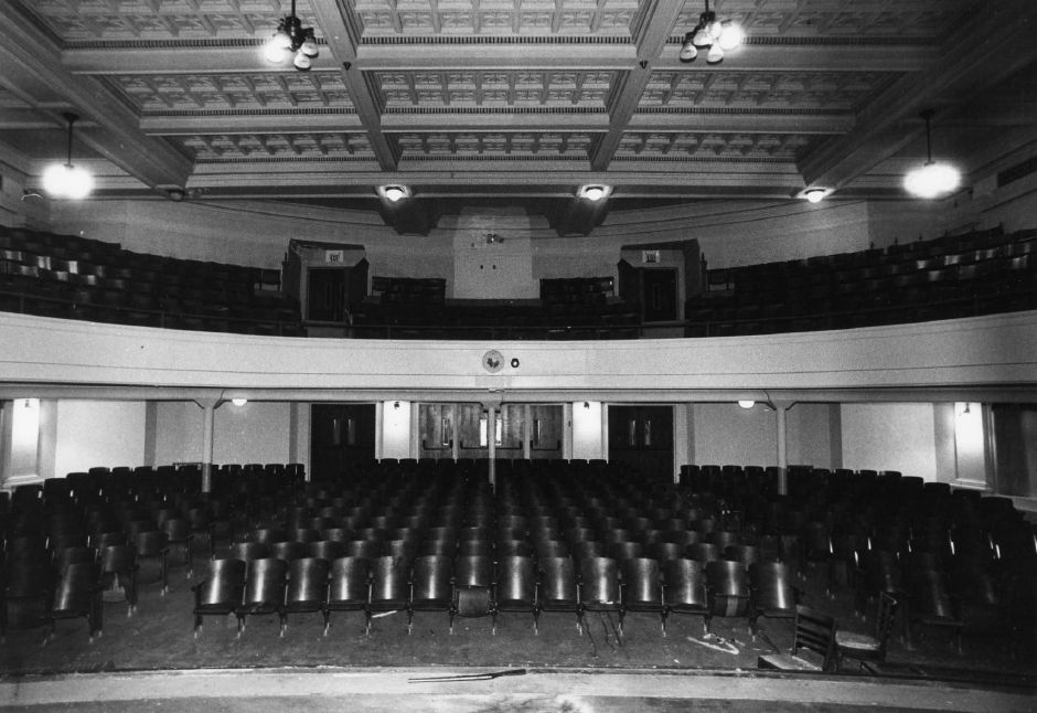 File photo - The ornate auditorium at Robert Earley Junior High School, Oct, 1986.