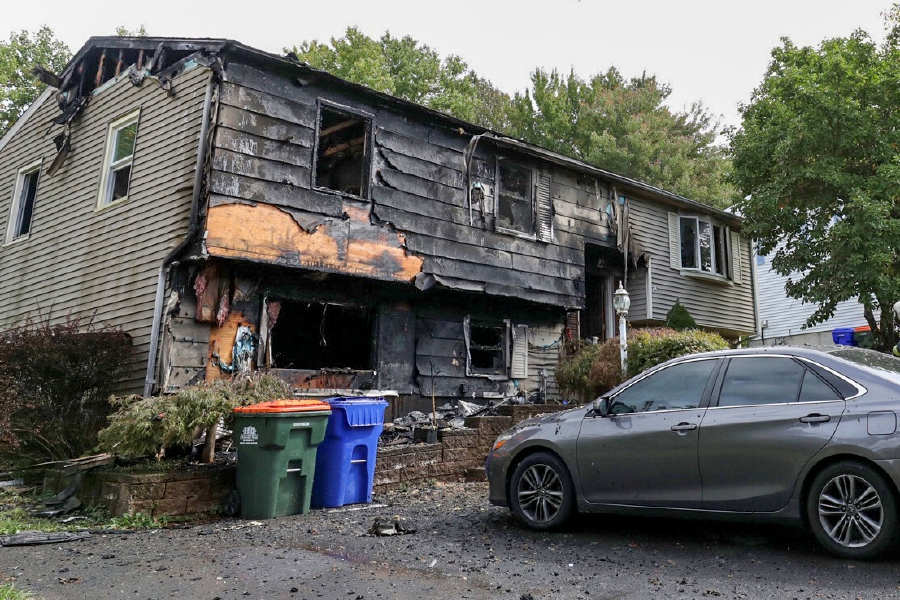 A fire damanged a home at 32 Spice Hill Drive on Monday Sept. 28, 2020. | Dave Zajac, Record-Journal