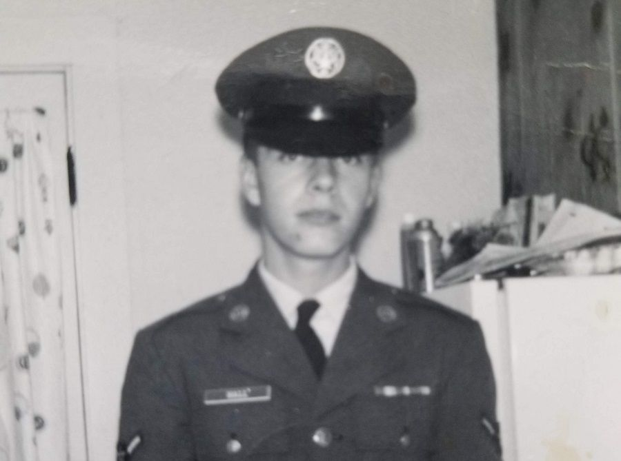 Plainville resident Mike Hall, in his U.S. Air Force dress in an undated photograph, will be receiving a renovation of his Hardwood Road home by the nonprofit House of Heroes on May 11, 2019. | Image courtesy of House of Heroes
