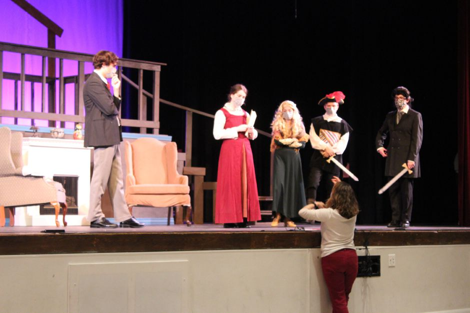 "The cast and crew of Cheshire High School's production of ""Little Women"" have been rehearsing since January. The group will record the production and release it to the public sometime at the beginning of May. Mariah Melendez/Cheshire Herald"