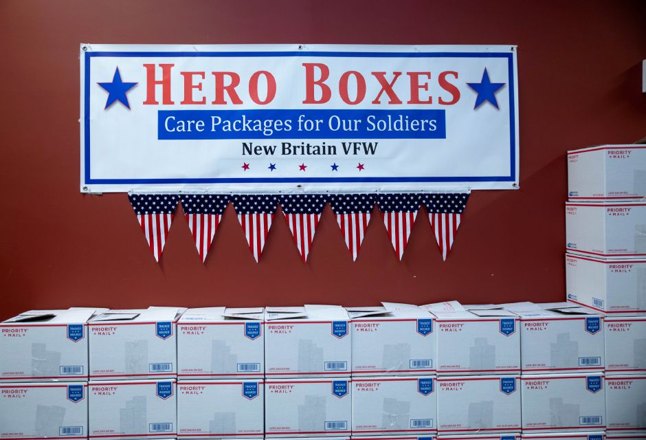 Hero Boxes, a Berlin-based nonprofit, has moved its annual event filling up care packages with Christmas gifts for soldiers from Thanksgiving to Nov. 9, 2019. | Devin Leith-Yessian/Berlin Citizen