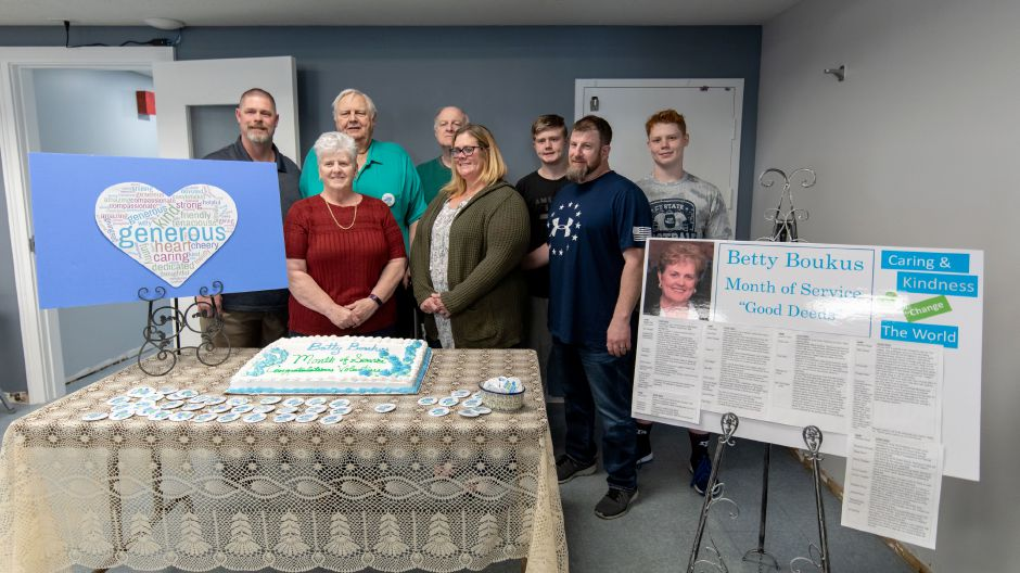 Family members of the late Plainville State Representative Betty Boukus, who passed away in 2016, attended a ceremony in her memory on April 16, 2019. The Town Council designated March 15 to April 15 the Betty Boukus Month of Service. | Devin Leith-Yessian/Plainville Citizen