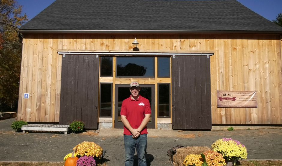 Co-owner Kevin Staehley poses outside Yankee Cider Co.