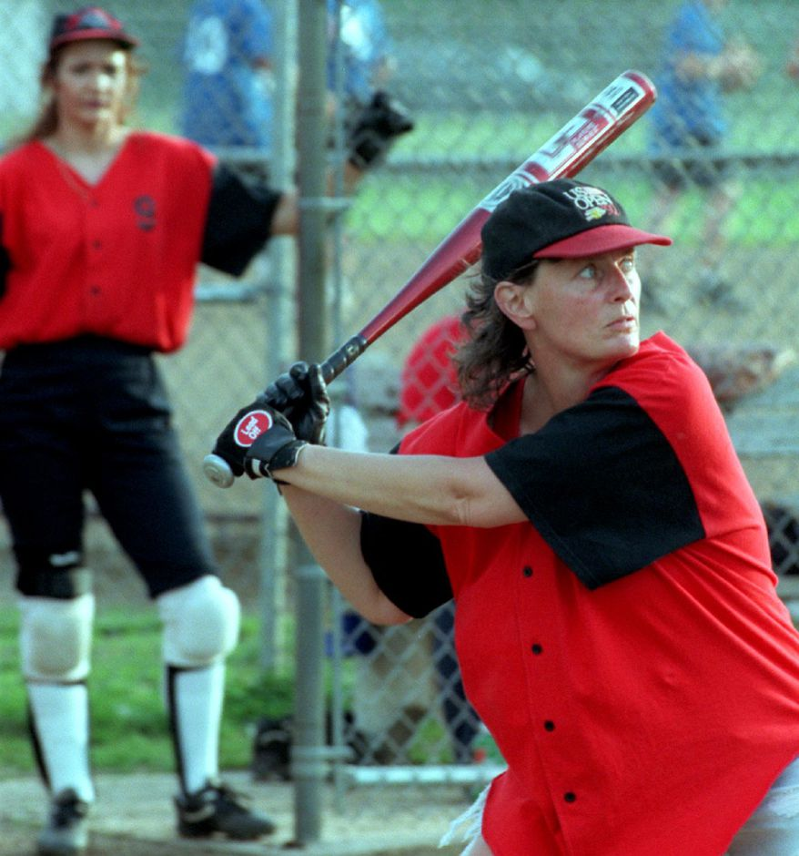 Carol Sklepowicz of Meriden , co-coach and co-manager of the American Legion Post 45 women