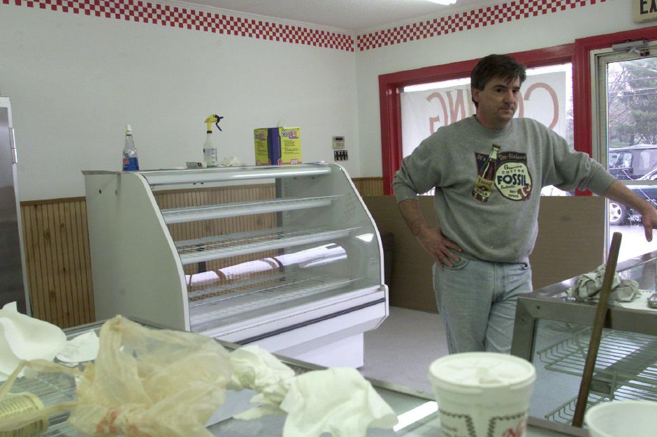 Neil Bukowski of Wallingford will soon be opening Neils New York Style Bake Shop in the Yalesville section of Wallingford, APril 13, 2001.