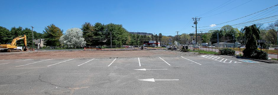 The cleared site of the former Tops Market in Southington, Wed., Apr. 24, 2019. A fire destroyed the business on March 3rd. Dave Zajac, Record-Journal