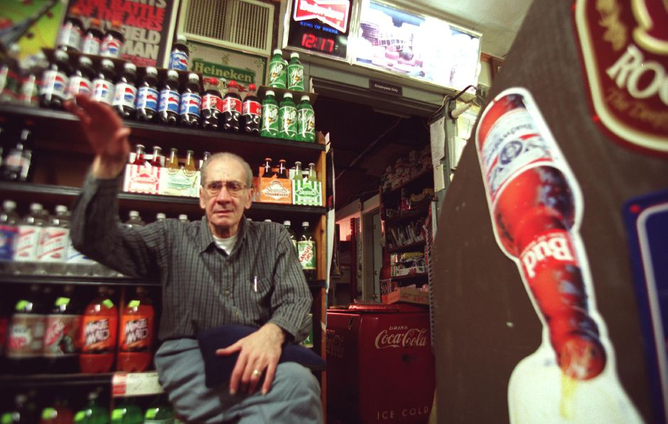 Marco V. Petruzzi sits on a stool in the back of his Marion Avenue store in Southington and recalls stories from working there for 45 years. His store is Petruzzi