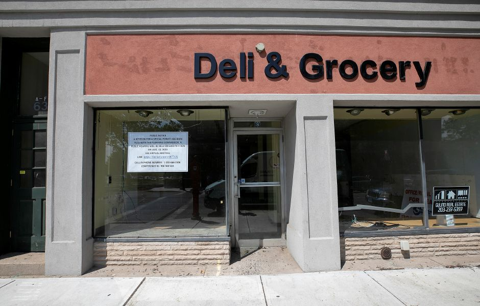A former deli storefront at 63 W. Main. St. in Meriden, Tues., Aug. 11, 2020. An area businessman won a special permit to operate a package store at the location. Dave Zajac, Record-Journal