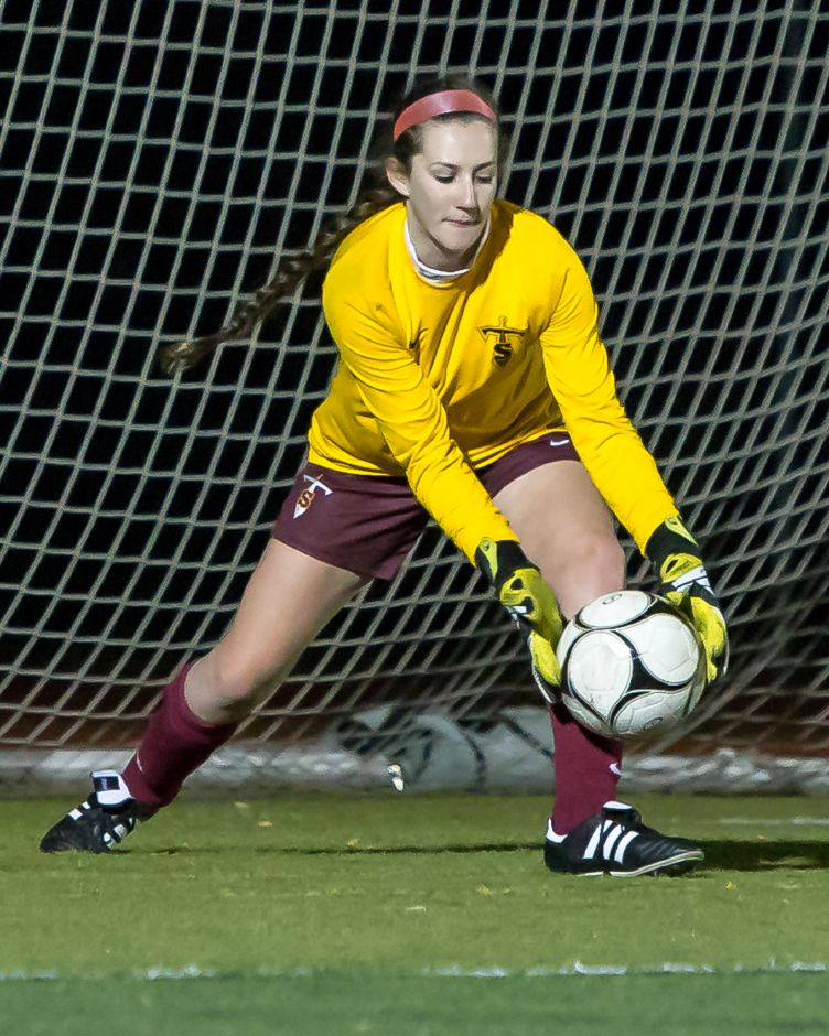 While it goes in the books as a 1-0 loss, Sheehan senior goalie Elizabeth Arnold was outstanding Tuesday night against Mercy. Record-Journal file photo