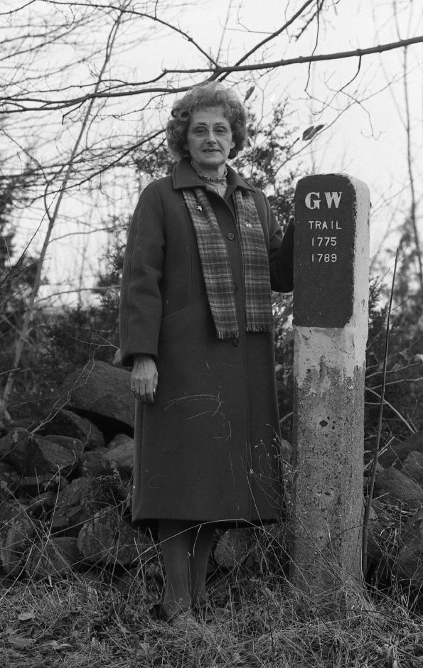 RJ file photo - Wallingford resident Rita Katona wants developers to consider giving new street names with local historical significance, Feb. 1989.