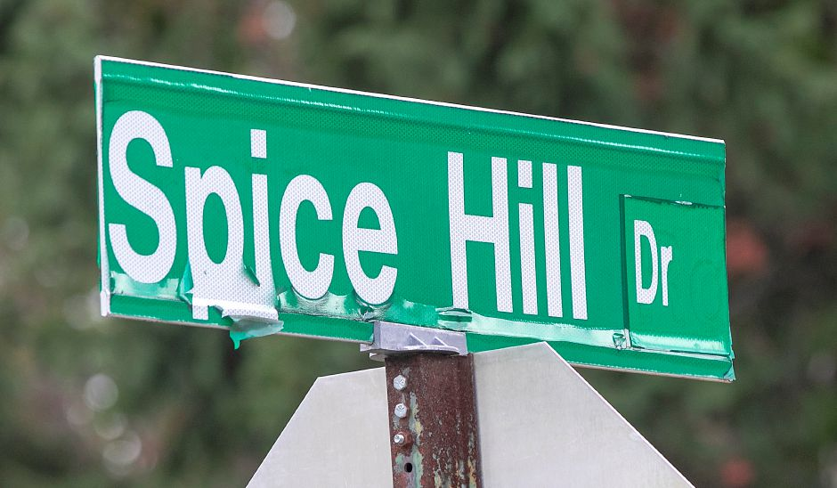 Spice Hill Drive in Meriden, Sept. 28, 2020. Dave Zajac, Record-Journal