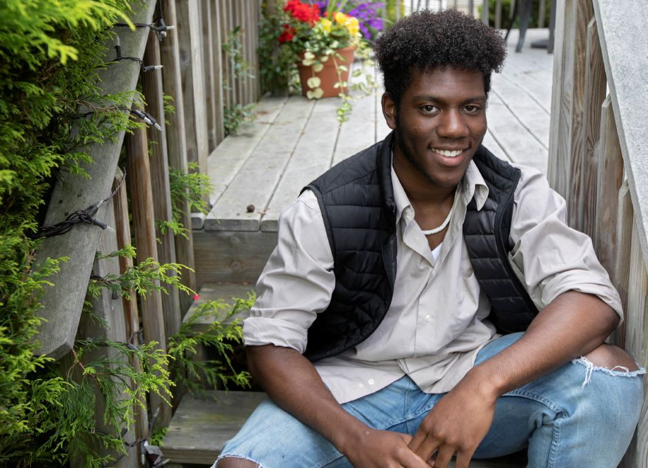 Sheehan High School student Terrence Bogan, 18, of Wallingford, Mon., Jun. 1, 2020. Bogan has made it to the top 15 in a national singing competition sponsored by Broadway Records. Dave Zajac, Record-Journal