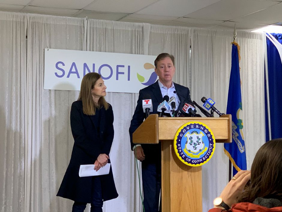 Gov. Ned Lamont visited Protein Sciences, Meriden. |  Matthew Zabierek, Record-Journal