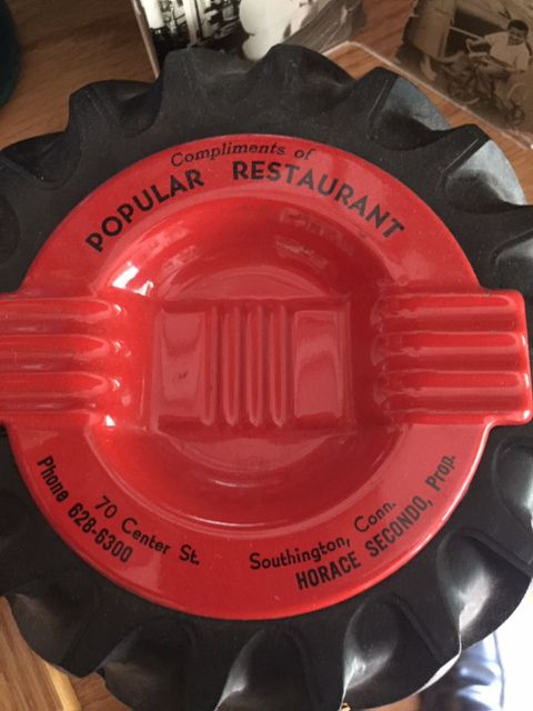 Memorabilia from Southington's Popular Restaurant