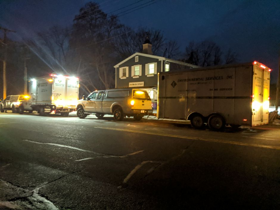 Police investigation at 763 Hanover Road Thursday, Jan. 23, 2020 (Michael Gagne | Record-Journal)