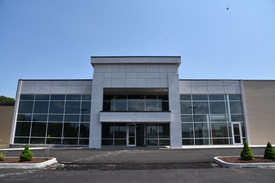 Surge Fitness Center at 117 Washington Ave. in North Haven on May 31, 2019. The owner of the shopping plaza says it should be open by the end of the year. | Bailey Wright, Record-Journal